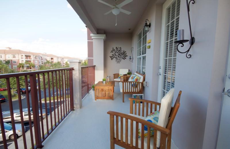 Guest porch at Orlando Luxury Escapes Vacation Rentals.
