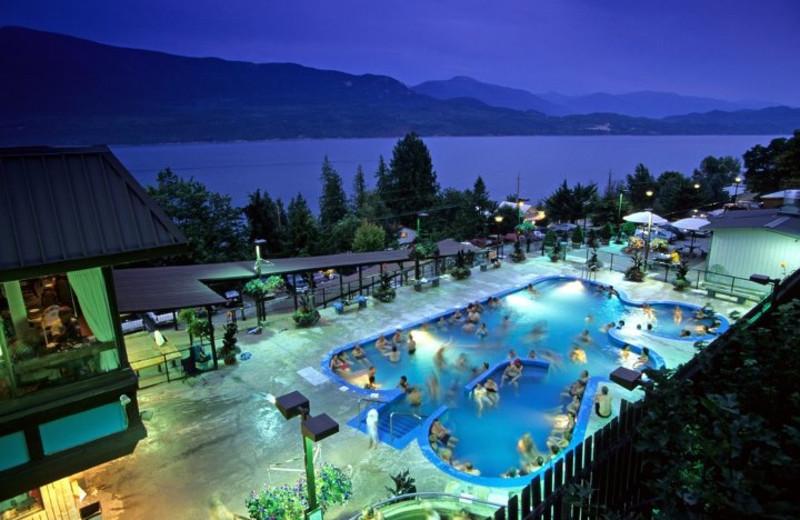 Hot springs at Ainsworth Hot Springs Resort.