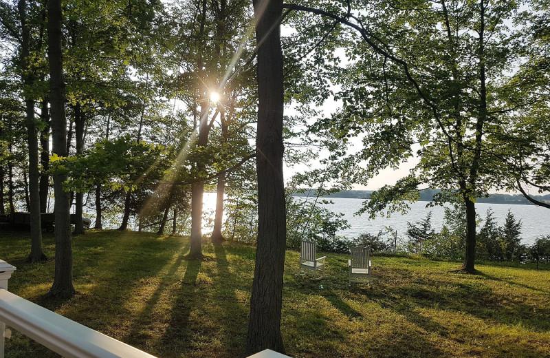 Cottage lake view at Sandbanks Summer Village Cottage Resort.