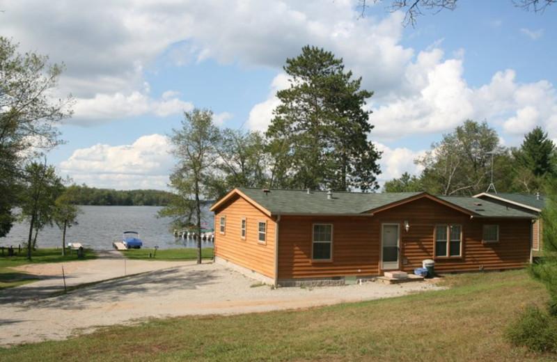 Cabin exterior at Popp's Resort.