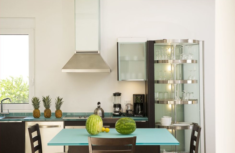 Vacation rental kitchen at Coral Beach Club.