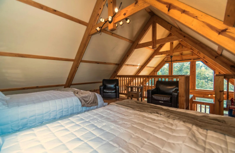 Guest room at Geronimo Creek Retreat.