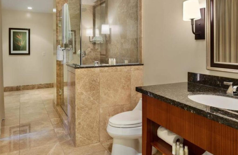 Guest bathroom at Honua Kai Resort & Spa.