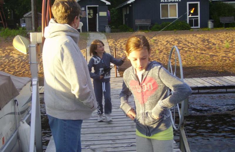 Fishing at Oak Park Resort.