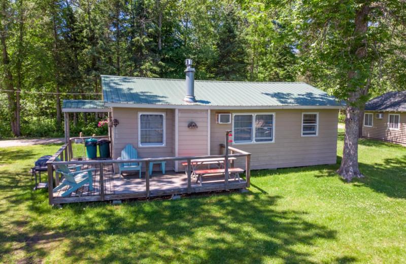 Cabin exterior at Rising Eagle Resort.