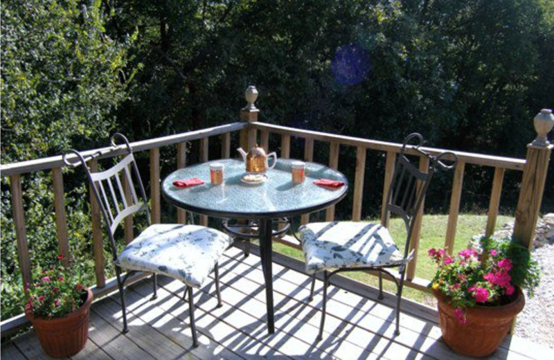 Balcony at Elm Creek Manor.