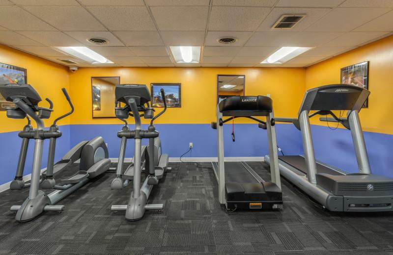 Fitness room at Harbor Shores on Lake Geneva.
