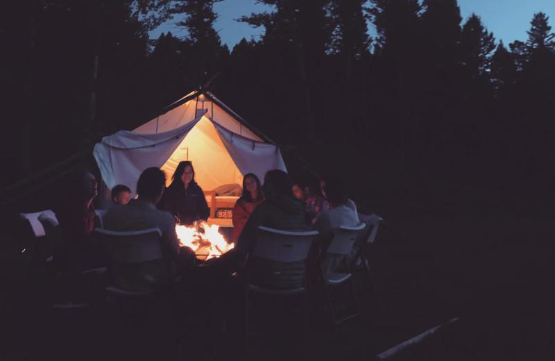 Bonfire at Hardscrabble Ranch.