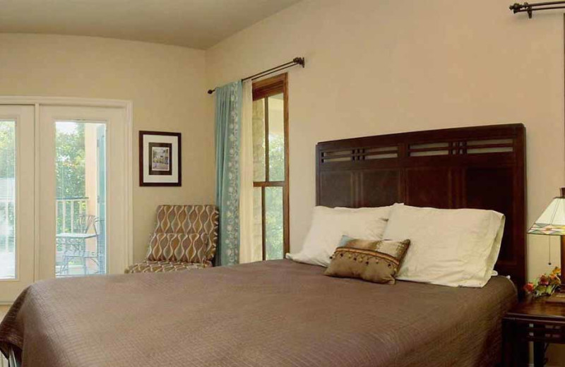 Rental bedroom at River City Resorts.