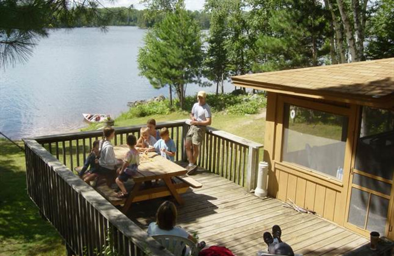 Cabin deck at River Point Resort & Outfitting Co.