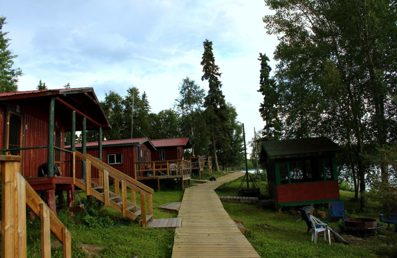 Cabins at Voyageur Lodge.
