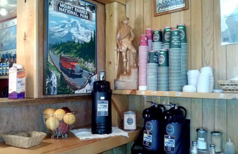 Cafe at Whittaker's Bunkhouse.