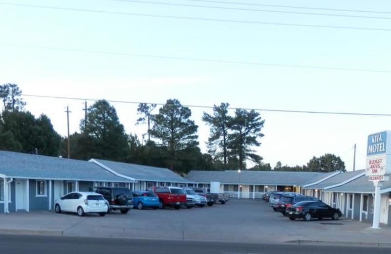 Exterior view of Kiva Motel.