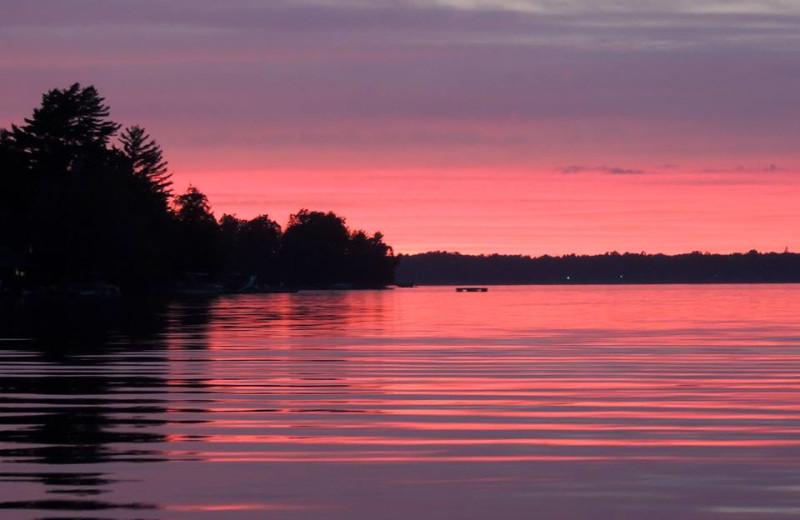 Beautiful sunset at Northland Lodge.