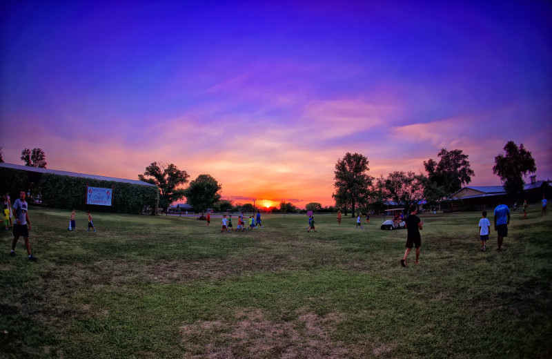 Sunset at Camp Champions on Lake LBJ.