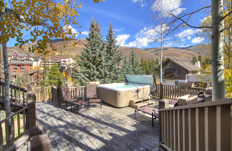 Rental hot tub at Vail Rentals by Owner.