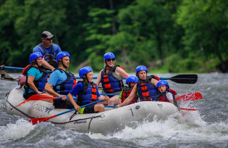 Rafting at Creekside Camp & Cabins.