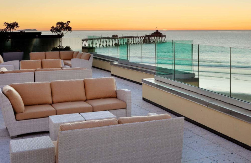 Patio at Pier South Resort.