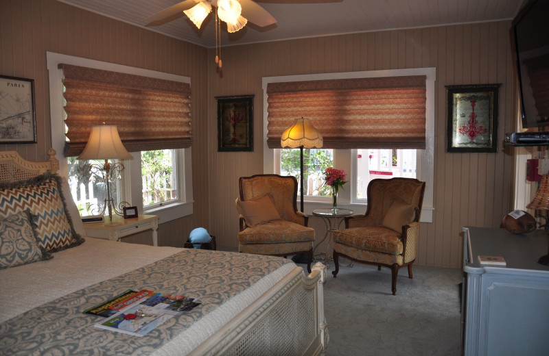 Guest room at Hibiscus House.