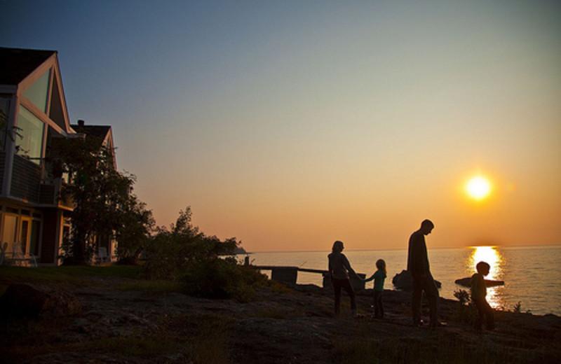 Sunset at Bluefin Bay on Lake Superior.