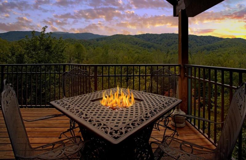 Rental deck view at Elk Springs Resort.