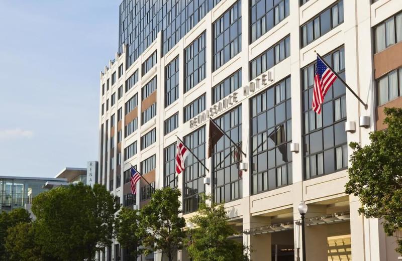 Exterior view of Renaissance Washington DC Hotel.