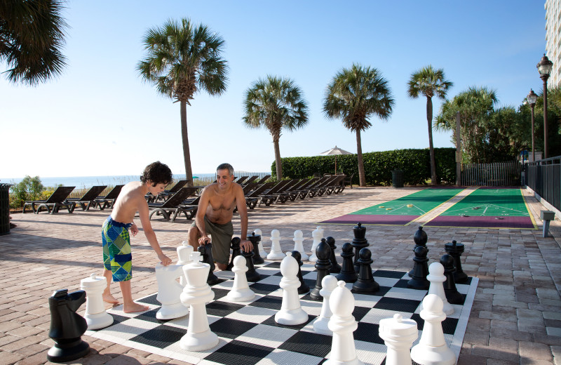 Giant chess at The Breakers Resort.