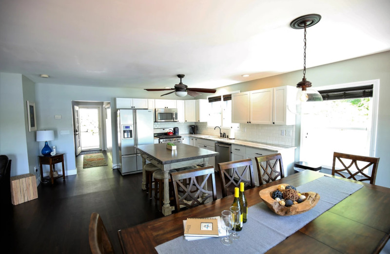 Rental kitchen at Northern Living - Luxurious Vacation Rentals.