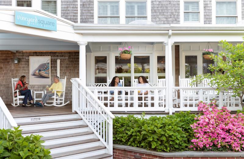 Porch at Vineyard Square Hotel & Suites.