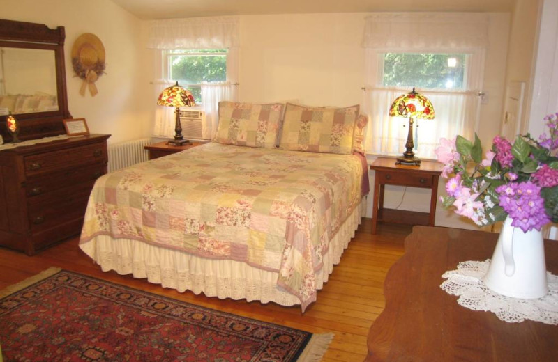 Guest room at East Hampton Village B & B.