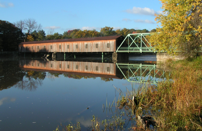 Harpersfield Covered Bridge near Holiday Inn Express & Suites Madison.