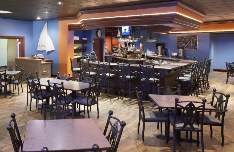 Boathouse pub dining room at Heidel House Resort.