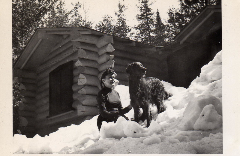 Historic photo of Heston's Lodge.