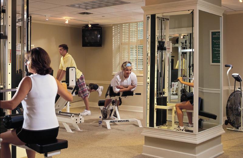 The fitness room at The Otesaga Resort Hotel.