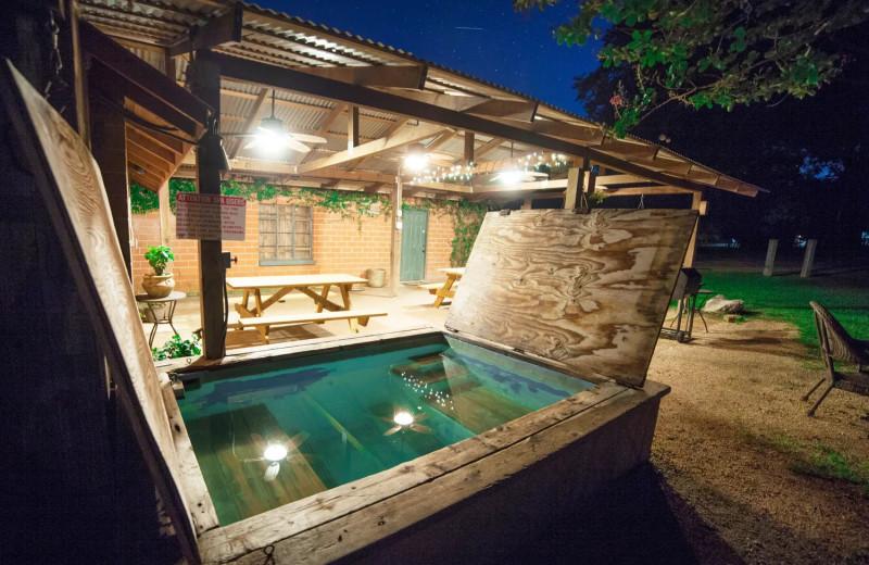 Hot tub at Geronimo Creek Retreat.