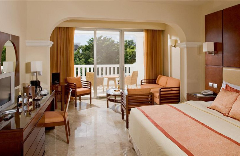 Guest room at Grand Sunset Princess Resort.
