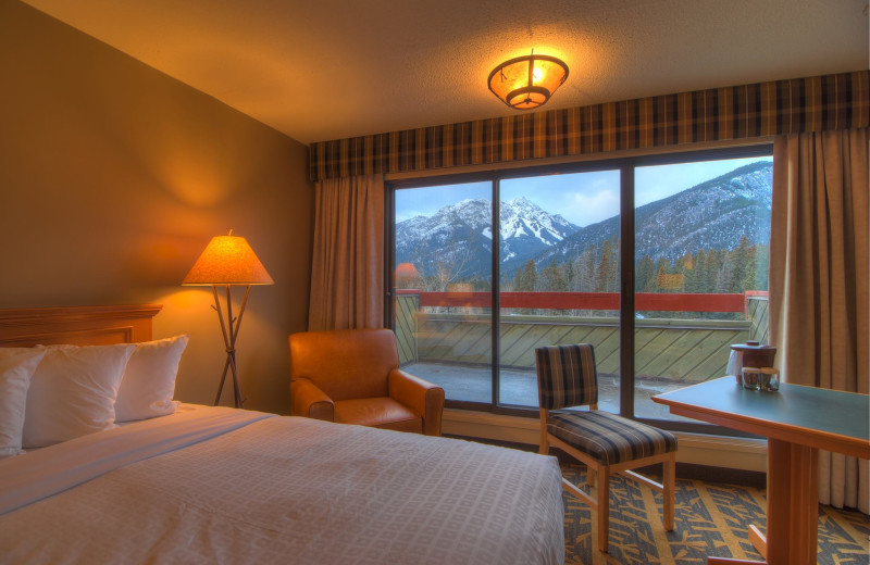 Guest room at Banff Lodging Company.