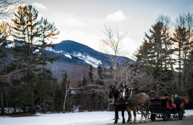 Sleigh ride at Waterville Valley.