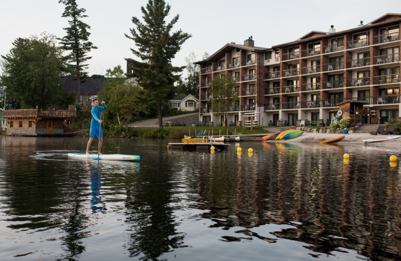 Complimentary SUP, kayaks, canoes, paddle boats, and hydro bikes are available to all Golden Arrow guests