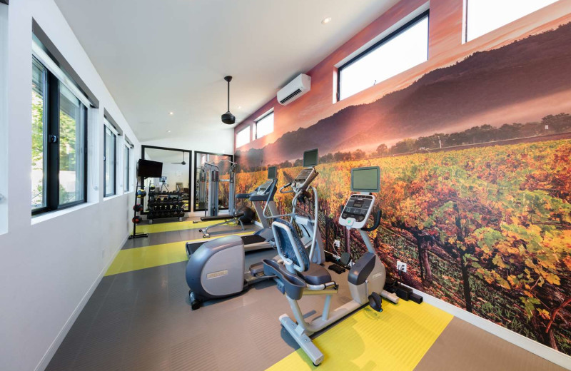 Fitness room at Best Western Plus Stevenson Manor.