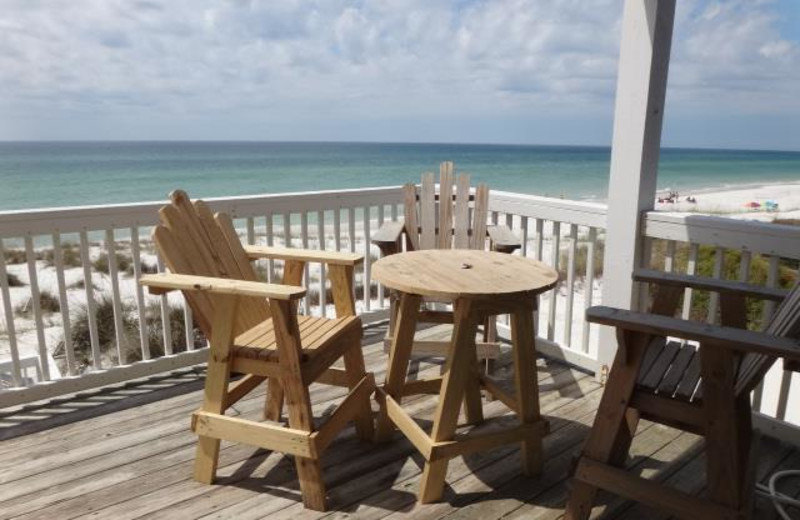 Beach view at Teresa's Beach Vacation Rental Homes.