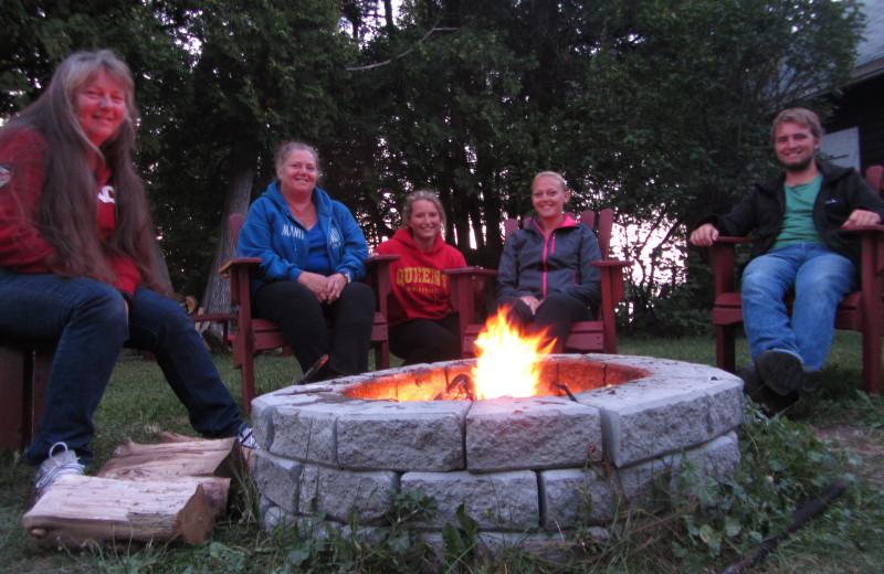 Bonfire at Black Rock Resort.