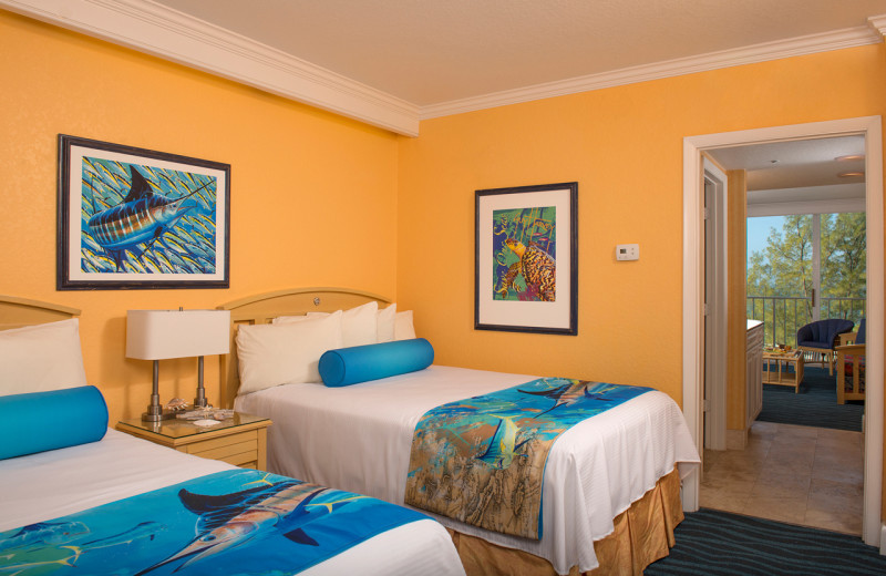 Double guest room at Guy Harvey Outpost.