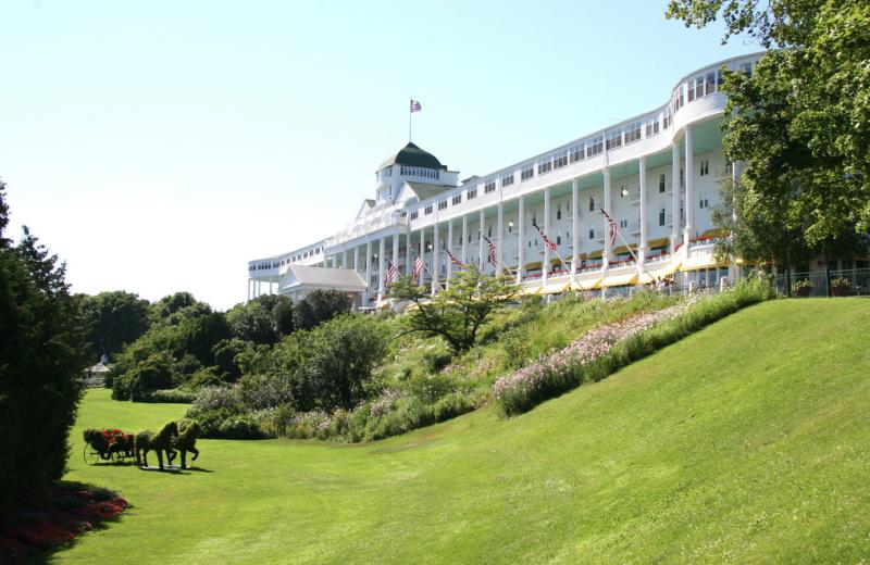 Tea garden at Grand Hotel.
