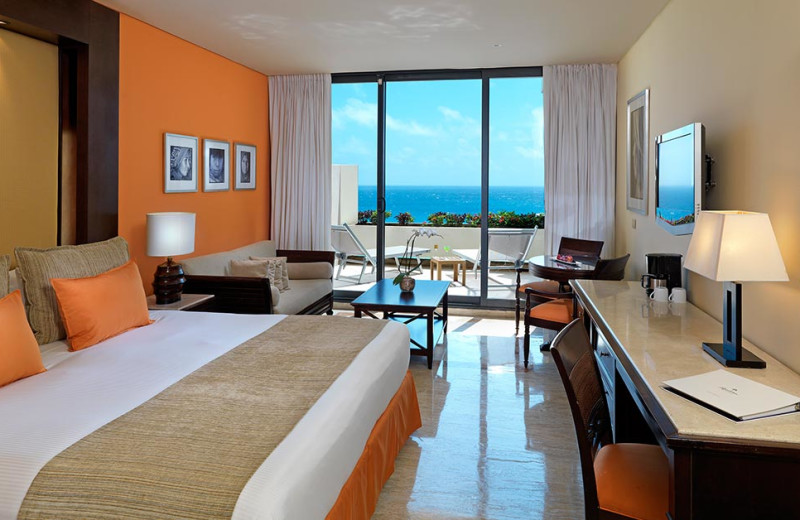 Guest room at Paradisus Resorts Cancun.