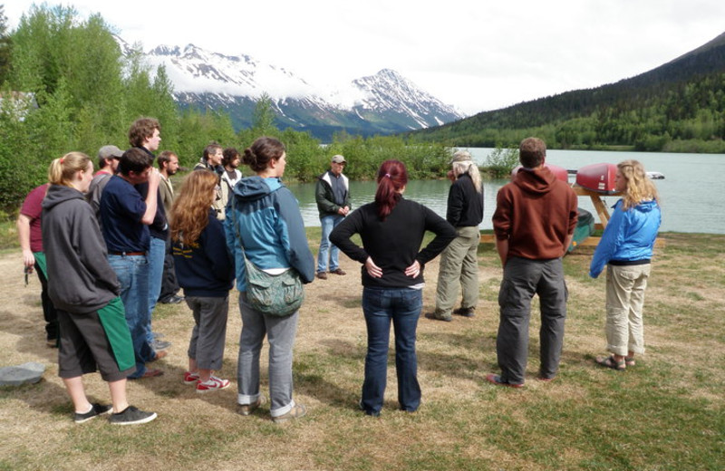 Group at Trail Lake Lodge.