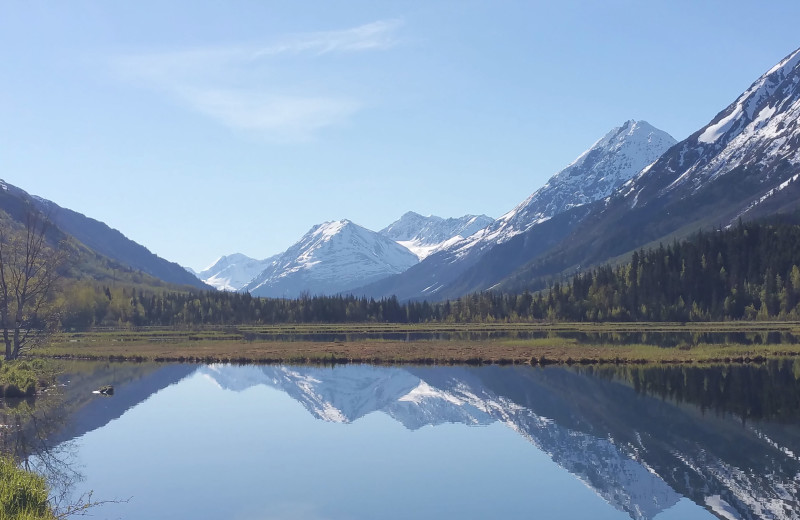Lake at Gwin's Lodge & Kenai Peninsula Charter Booking Service.