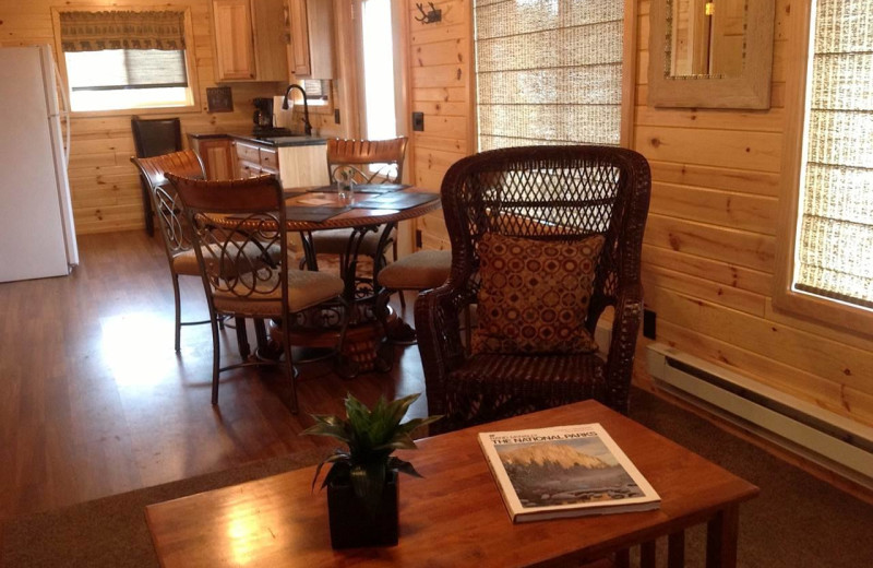 Cabin interior at Kabetogama Lake Association.