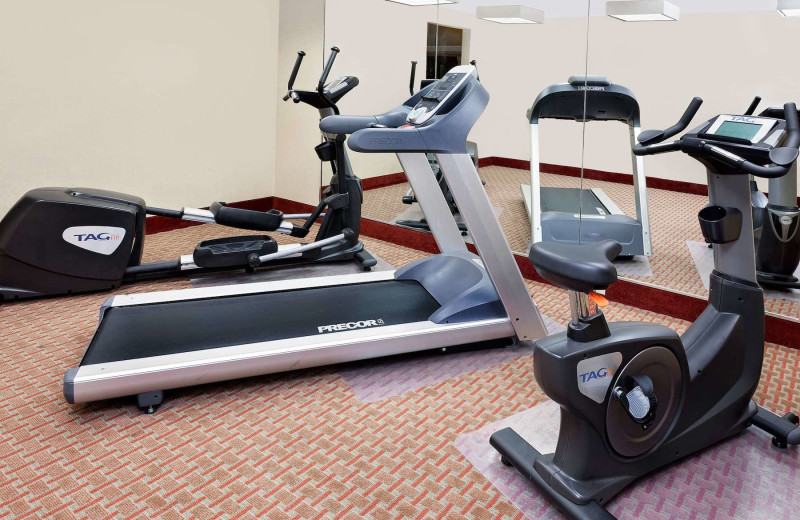 Fitness room at Baymont InnSuites.