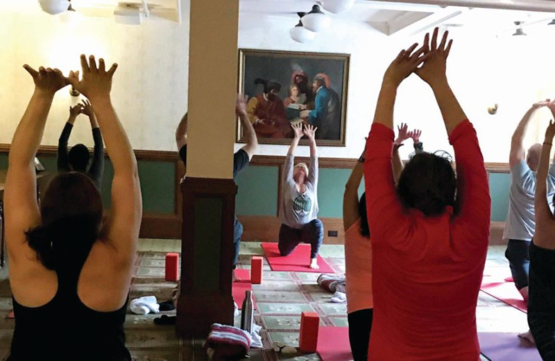 Yoga at Red Lion Inn.